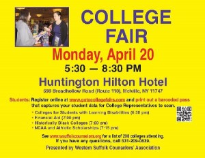Suffolk College Fair - Long Island Regents Prep - Long Island SAT Prep - Long Island AP Prep
