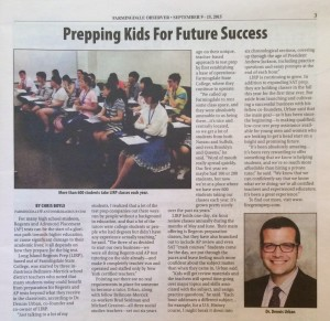 Long Island Regents Prep featured in current issue of Farmingdale Observer.